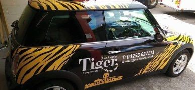 Tiger Estates Mini Car Wrap