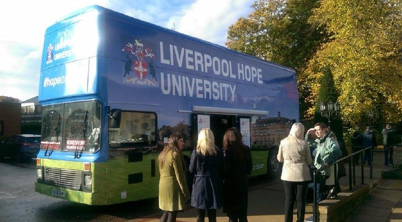 Liverpool Hope University Promotional Bus Hire