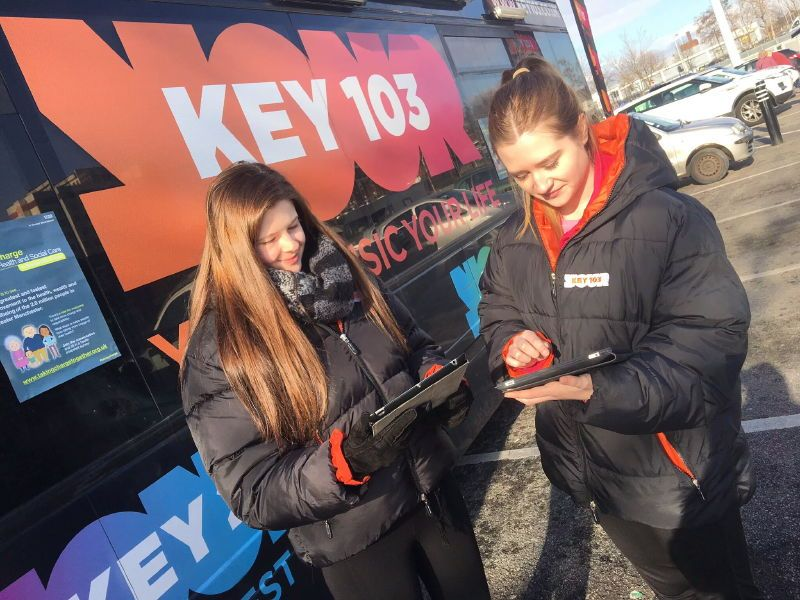 Key103 Promotional Bus Greater Manchester NHS