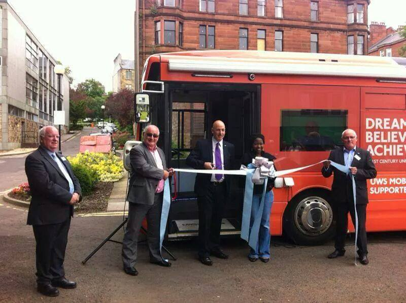 University of West Scotland Bus re-branded for Commonwealth Games