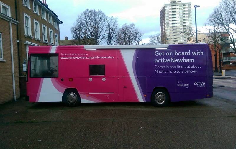 Health Bus Active Newham London