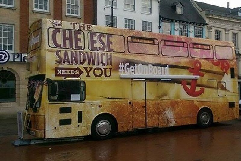 Branded Bus for Anchor Cheese Promotion