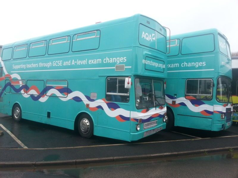 Both our IT Training Buses return to Blackpool