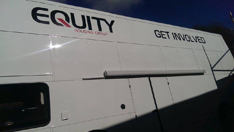 Equity Housing Hospitality Bus Stockport