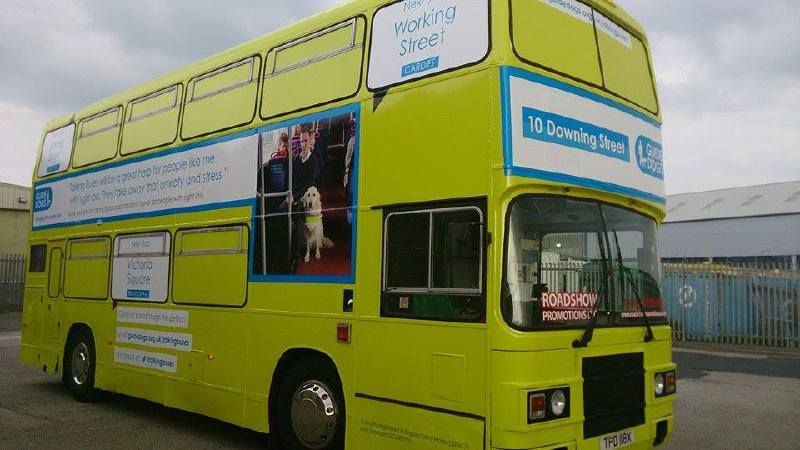 Guide Dogs Tour Bus Branded with new Livery