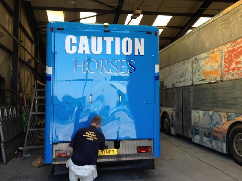Resayed Horse Box Finishing Touches