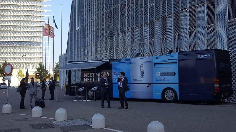 exhibition bus medtronic european tour