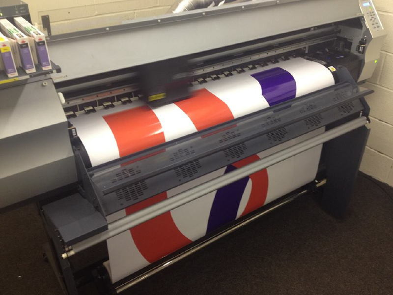 Printing the vinyl for IT Bus
