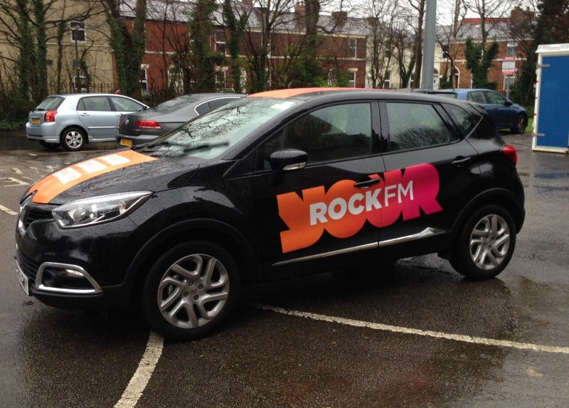 Prestons Rock FM Car Branded with New Livery