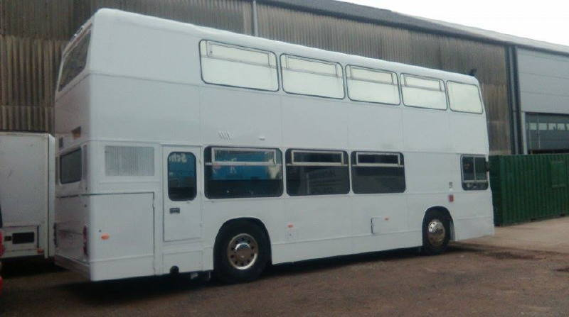 Exhibition Bus Resprayed