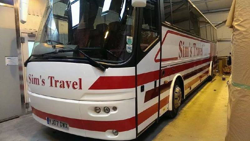 Sims Travel Coach Livery Applied