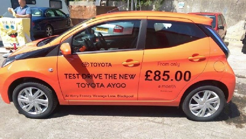 Blackpool Cars Branded for Toyota Dealership